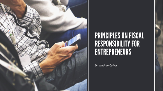 Principles on Fiscal Responsibility for Entrepreneurs
